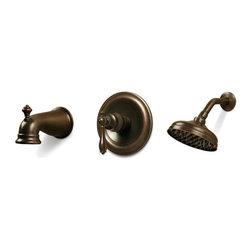 Pegasus - Pegasus Estates Single-Handle Tub and Shower Faucets in Heritage Bronze - Estates Single-Handle Tub and Shower Faucet in Heritage Bronze