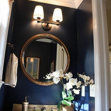 My Dream Home Inspiration / Love the Navy Walls & Gold Ceiling