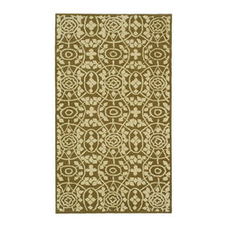 """Safavieh - Martha Stewart Assorted Area Rug MSR1214L - 9'6"""" x 13'6"""" - Inspired by the architectural detailing of an antique iron gate and the bloomeries where such ironwork is made, this classic design is reinterpreted with a new approach to proportion and scale. A cut-and-loop weave rug made in China to exacting standards, Bloomery is rendered in pure cotton in soft but defined colors. This rug works equally well for casual or intimate rooms."""