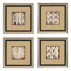 Paragon - Aged Elegance PK/4 - Framed Art - Each product is custom made upon order so there might be small variations from the picture displayed. No two pieces are exactly alike.