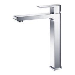 Fresca - Fresca Allaro Single Hole Vessel Mount Bathroom Vanity Faucet - Chrome - Fresca Allaro Single Hole Vessel Mount Bathroom Vanity Faucet - Chrome