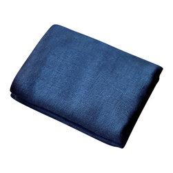 bailanmu - Sea Blue Gauze Towel, Wash Cloth - Luxurious towel with a sustainable soul. Beautiful indigo shade blue, affectionately called Sea Blue. One side is a soft, woven gauze while the other, a familiar, equally soft knit terry cloth. Reversible in use, depending on your mood. Travel friendly, great for yoga and the gym, as well as beach towel!