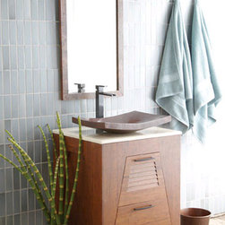 Native Trails Trinidad Vessel Sink Vanity - Native Trails Bathroom Vanities and bath sinks are handcrafted by true artistes from maintainable and recycled materials.  Native Trails bathroom vanity cabinets and tubs, will renovate any bathroom into a soothing leaving where you can sneak away to your own stylish space.