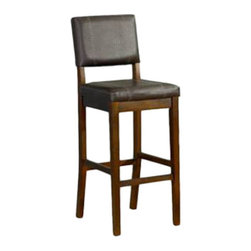 Linon - Milano Counter Stool 24 - Dimensions: 19.5 x 17.8 x 38.2 inches