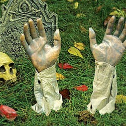 Gruesome Ground Breakers - The dead are rising from their graves — in your lawn! RUN! Add a couple of gravestones, and maybe a skull or two, to complete the scene.