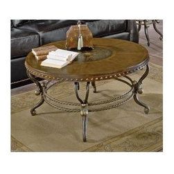 Homelegance - Opeland Round Cocktail Table - Wooden top