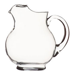 Acapulco Pitcher - This classically proportioned, plump pitcher is ready for service of cold refreshers, from ice water and lemonade to margaritas and sangria. Durable clear glass pitcher stands up to everyday use. An ice lip restrains wayward cubes.