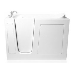 "Ariel - Ariel EZWT-3054 Walk-In Bathtub  SOAKER L 54x30x39 - Ariel Walk-In Bathtubs combine safety and convenience. They come with a door and built in seat so you can enjoy a private & relaxing bath experience. Dimensions:  54x30x39, ADA Compliant Walk in Bath Tub, 17"" seat height and 23"" wide, Handheld showerhead and Roman Faucets, Free standing stainless steel support frame with adjustable feet, Heavy duty reinforced door system, UPC drain, Safety grab bar, High Gloss Triple Gel Coat, Left and right configurations available"