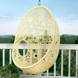 Flower Pod Chair - I love this design! It is subtle, but so pretty.
