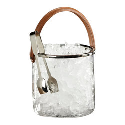 Zodax - Barclay Butera Equestrian Collection Ice Bucket with Leather Handle by Zodax - Barclay Butera Equestrian Collection Ice Bucket with Leather Handle by Zodax