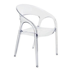 Vapour Clear, Stackabe Dining Chair -