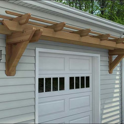 Fifthroom - Rough Cut Cedar Eyebrow Pergolas -