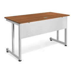 """OFM - Modular Desk/Worktable - This 24""""x72"""" modular training/work table has a contemporary design that is perfect for any training room, office, or school environment! Features: -Worktable.-Scratch-resistant thermofused melamine surface.-Adjustable leveling glides.-Scratch-resistant powder coated paint finish on durable steel base and frame.-Perfect for general office use and commercial use.-Distressed: No.Dimensions: -Tabletop Thickness: 0.75"""".-Tabletop Dimensions: 24"""" x 72"""".-Overall Dimensions: 29.5"""" H x 72"""" W x 24"""" D.Assembly: -No tools required for assembly.-Assembly required."""