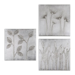 Handpainted Floral Canvas Wall Art - *Hand painted artwork on canvas is stretched and mounted to wooden stretching boards.