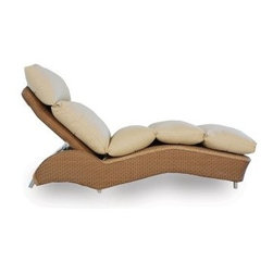 Lloyd Flanders All-Weather Wicker Double Chaise Lounge - The Lloyd Flanders All-Weather Wicker Double Chaise Lounge brings a timeless design to your outdoor seating area. This double chaise lounge is built from high-quality resin wicker, and it includes premium Comfort Plush cushions for supreme comfort. It adjusts to several different positions. It is resistant to fading, warping, and cracking, so it's sure to last outdoors all year. The wicker is easy to clean and available in a wide variety of finish options. Dimensions: 79L x 40.5W x 40H inches.The Comfort Plush cushions will support you with their internal spring-bond premium core with dense foam and special polyester fiber that ensure total relaxation. Wrapped around this high-quality core is a polypropylene jacket of spun-bond fabric that sandwiches an inner meltblown-fabric layer, making these cushions waterproof. The quality materials and construction also mean that these cushions are inherently mildew- and bacteria-resistant. And to top it off, they come in a wide variety of colors and patterns that you're sure to love.About Lloyd/FlandersCarrying on the traditions of Marshall B. Lloyd, Lloyd/Flanders brings the sophistication of timeless furniture designs to a sophisticated, modern audience. Using modern production processes and materials, these classic styles are faithfully rendered in a way that can be enjoyed by customers anywhere with high-quality construction and reliable, all-weather designs.