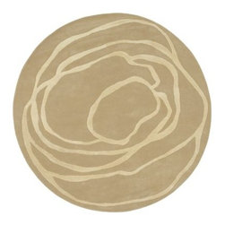 "Surya Studio SR-111 Beige/Cream Area Rug - The Surya Studio Rug is so attractively unique it is a great place to start when planning a room's decorative theme. You can't go wrong building on the warm hues in this hand-tufted rug which was crafted in India from New Zealand wool to create pleasing textures and convenient durability that will look great for years to come. The bold patterns provide a dramatic focal point that will turn any room into an innovative display of creative art without overwhelming the space.Sizes offered in this rug:Following are all sizes for this rug. Please note that some may be currently unavailable due to inventory. Also please note that rug sizes are approximate.Dimensions:2 x 3 ft.3.3 x 5.3 ft.5 x 8 ft.8 x 11 ft.2.6 x 8 ft. Runner8 ft. Round8 ft. SquareAbout Surya RugsSince 1976 Surya has established itself as one of India's leading producers of fine hand-knotted hand-tufted and flat-woven rugs. Their products are sold in the U.S.A. at respected department and specialty stores. The company is known for its quality value dedication and innovation. This includes responsibility for the entire process - spinning dyeing weaving and finishing. Surya prides itself on using the best raw material available for the production of their rugs. They are proud members of """"Wools of New Zealand."""" From design concept through production a Surya family member is involved making sure that the highest standards are being met at each level. Surya works with top designers and constantly updates their designs and color palettes to match and set the trends in design and fashion for the home. Surya always means a fine choice in rugs."