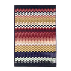Missoni Home - Lara Bath Mat - Features: -Material: 100% Cotton.-Plastic packaging bag.-Hand or machine wash.-Do not bleach.-Iron on a medium heat.-Do not dry-clean.-Bath collection.-Collection: Bath.-Distressed: No.-Country of Manufacture: Italy.Dimensions: -24'' Dimensions: 24'' W x 35'' D.-27'' Dimensions: 27'' W x 63'' D.