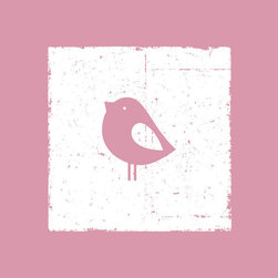 Homeworks Etc - Homeworks Etc Pink Bird White Canvas Wall Art - Enjoy this fun animal canvas wall art depicting a pink bird against a white background.  Makes a great baby shower or birthday gift! It's lightweight design is easy to hang.  Finished orange edge with no framing required.  Canvas stretched over a wooden frame.  Measures 10 x 10 x 1.5-inches.  Perfect for use in  a children's bedroom.