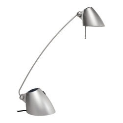 Dainolite - Dainolite DLHA111-SV Halogen Desk Lamp Silver Painted Finish - Dainolite DLHA111-SV Halogen Desk Lamp Silver Painted Finish