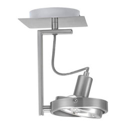 Eglo - Eglo 89952A 1 Light Semi-Flush Ceiling Fixture Cubeto Collection - (Bul - Eglo 89952A Cubeto 1 Light Semi-Flush Ceiling FixtureSleek and utilitarian, this modern semi-flush ceiling fixture from the Cubeto Collection features a swiveling head surrounded by minimalist matte nickel hardware that makes it a handsome addition to any room This dynamic fixture can be mounted as a ceiling fixture or a wall sconce.Eglo 89952A Features: