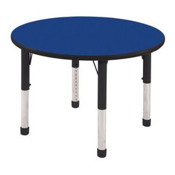 ECR4KIDS 36 in. Black Band Round Adjustable Activity Table - Chunky - About Early Childhood ResourcesEarly Childhood Resources is a wholesale manufacturer of early childhood and educational products. It is committed to developing and distributing only the highest-quality products ensuring that these products represent the maximum value in the marketplace. Combining its responsibility to the community and its desire to be environmentally conscious Early Childhood Resources has eliminated almost all of its cardboard waste by implementing commercial Cardboard Shredding equipment in its facilities. You can be assured of maximum value with Early Childhood Resources.