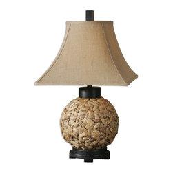 Uttermost - Uttermost 26470 Calameae Woven Rattan Table Lamp - Uttermost 26470 Calameae Woven Rattan Table Lamp
