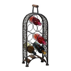 Benzara - Metal Wine Rack Make Your Bar Area More Inviting - Feel pride for having something great at bar area. 69833 METAL WINE RACK creates a feeling of having something unique because of its unique design concept that makes it a living style statement.