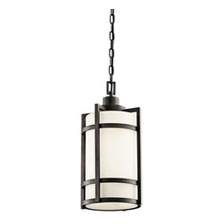 Kichler Lighting - Kichler Lighting 49124AVIFL Camden 1 Light Outdoor Ceiling Lights in Anvil Iron - Outdoor Pendant 1Lt Fluoresc