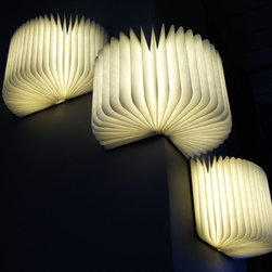 Lumio - Lumio is a modern lamp that unfolds from a book and can be used almost anywhere. You can transform Lumio into many shapes to meet your needs!