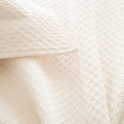 Pine Cone Hill - petite trellis matelasse coverlet (ivory) - A latticework of tiny tone-on-tone diamonds spills over this mateleasse coverlet, in the softest prewashed cotton��This item comes in��ivory.��This item size is��various sizes.