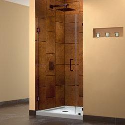 DreamLine - DreamLine SHDR-23317210-06 UnidoorLux Shower Door - DreamLine UnidoorLux 31 in. W x 72 in. H Hinged Shower Door, Oil Rubbed Bronze Finish Hardware