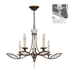Fine Art Lamps - Fine Art Lamps 843640-11 Marquise Silver Polished Crystal 8 Light Chandelier - Fine Art Lamps 843640-11 Marquise Silver Leaf 8 Light Chandelier