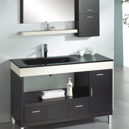 Ariel Z-W002 - Ceasar 55 Modern Bathroom Vanity - This bathroom vanity is now available for $1145.00  at http://www.BathroomEtc.com and http://wwww.SteamShowersInc.com Shipping is always free! SAVE 10% off, with coupon code BREHZ10 on BathroomEtc or coupon SSIHZ10 online and on phone orders at SteamShowersInc.com. To order by phone, call: 800-304-3598!
