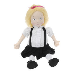 Eloise Rag Doll - The Madame Alexander 18 inch Eloise Rag Doll is dressed in her signature outfit, and she is about to get into all kinds of mischief. Her soft polyester body is stuffed with rags, so she is wonderfully pleasing to hold. Invite Eloise to a tea party or sleepover and the imaginative adventure will begin!