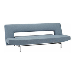 Flight Sofa Bed - Flight is perfect for long, narrow rooms. Sleek and contemporary, it easily fits in to modern decor. Flight has 3 positions - sit, recline and sleep - making it easy to adjust to your seating and relaxing style. Opens to a 3/4 double bed.