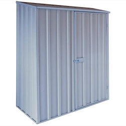 EnduraShed - EnduraShed Garden Sheds - Compact Series - [1.0 each/each] - 5' x 3' Zinc-Aluminium Off The Metal Wall Shed -  Designed to make assembly a breeze and additional storage a reality in smaller homes, the EnduraShed Compact series offers two convenient styles: flat roof and off-the-wall.     The flat roof style is not only the smallest option in our assortment, but it also offers the easiest DIY assembly. Don't misunderestimate the small size though, each flat style is still complete with large entry way reinforced by a hinged door with a 6 foot entry way, and a robust composition that stands up to outdoor elements.   The off-the-wall style unit optimize the limited free space available in smaller areas. Perfect for courtyard gardens, dense inner-city dwellings, as well as condos and townhouses, these units are great for areas where storage is needed but limited. These units don't require a back wall or a concrete slab, as they securely and safely attach to an existing structure to make economical use of tight spaces.    Made from high-grade, hi-tensile steel and backed by a 20 year limited manufacturer warranty, easily build a shed that lasts with the EnduraShed Compact Series.
