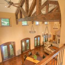 Rustic Family Room by RTA Studio