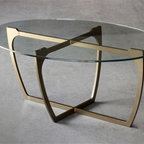 Fontana Cocktail Table by Charleston Forge - Dimensions: (width x depth x height or thickness)