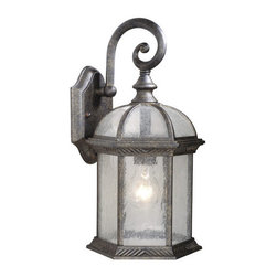 Vaxcel Lighting - Vaxcel Lighting OW39783 Chateau 1 Light Outdoor Wall Sconce - Features: