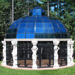 Custom Design Work - This hand carved marble gazebo was a stunning custom design made for a client in NY.  All of our items can be custom made to suit your size specifications and style.  Call our office today!