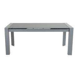 Eurostyle - Euro Style Dario Collection Dining Table in Gray Glass/Gray - Dining Table in Gray Glass/Gray in the Dario Collection by Eurostyle