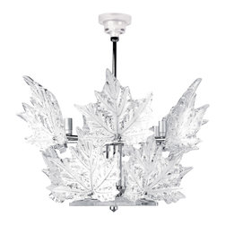 Lalique - Lalique Champs Elysees 2 Tier Chandelier Chrome - Lalique Champs Elysees 2 Tier Chandelier Chrome 1011397  -  Size: 23.62 Inches Long x 17.13 Inches Tall  -  Genuine Lalique Crystal  -  Fully Authorized U.S. Lalique Crystal Dealer  -  Created by the Lost Wax Technique  -  No Two Lalique Pieces Are Exactly the Same  -  Brand New in the Original Lalique Box  -  Every Lalique Piece is Signed by Hand, a Sign of its Authenticity and Quality  -  Created in Wingen on Moder-France  -  Lalique Crystal UPC Number: 090592010174