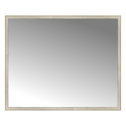 """Posters 2 Prints, LLC - 71"""" x 58"""" Libretto Antique Silver Custom Framed Mirror - 71"""" x 58"""" Custom Framed Mirror made by Posters 2 Prints. Standard glass with unrivaled selection of crafted mirror frames.  Protected with category II safety backing to keep glass fragments together should the mirror be accidentally broken.  Safe arrival guaranteed.  Made in the United States of America"""