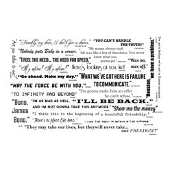 Dana Decals - Large Famous Movie Quotes Collection - Classic Cinema Entertainment Movie Quote Collection
