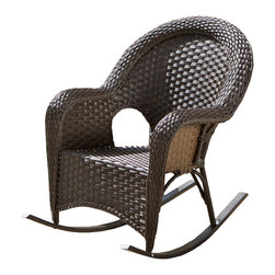 Great Deal Furniture - La-Ville Outdoor Rocking Chair - The La-Ville Outdoor Rocking Chair adds a smooth, relaxing seating option to any patio or veranda. This rocker is crafted out of rust-proof aluminum, upholstered with All-Weather PE Wicker that is easy to clean and maintain. La-Ville rocker was engineered to rock exceptionally smoother, deeper, and longer with less effort on your part. Try it out and be amazed!