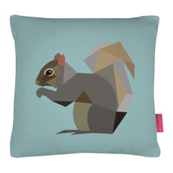 Colorful Squirrel Pillow - 17 x 17 - This pillow is vegan, yes we know that you have no plans to eat it, but we just wanted to assure you it contains nothing harmful to animals. It is made from super soft faux suede and come complete with a fibre insert.