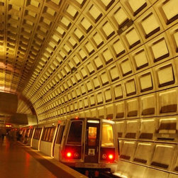Wallmonkeys Wall Decals - Rosslyn Metro Station near Washington Dc and Georgetown Wall Mural - 72 Inches W - Easy to apply - simply peel and stick!
