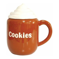 WL - 9.5 Inch Hot Cocoa Mug with Whipped Cream Painted Ceramic Cookie Jar - This gorgeous 9.5 Inch Hot Cocoa Mug with Whipped Cream Painted Ceramic Cookie Jar has the finest details and highest quality you will find anywhere! 9.5 Inch Hot Cocoa Mug with Whipped Cream Painted Ceramic Cookie Jar is truly remarkable.