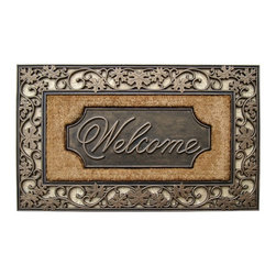 A1 Home Collections - LIMITED EDITION Elegant Rubber And Coir Doormat - Accent your doorway with this ultra chic and stylish doormat.Crafted of all natural rubber and coir this mat is an excellent decorative accent for your doorway and it also help remove dirt, debris, mud and moisture from your shoes.