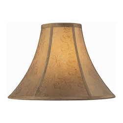 Lite Source - 6 in. Dia. Jacquard Bell Shade (6 in. Dia.) - Choose Size: 6 in. Dia.. 6 in. Shade:. Shade top: 6 in. Dia.. Shade bottom: 16 in. Dia.. Shade height: 12 in.. Weight: 1.75 lbs.. 7 in. Shade:. Shade top: 7 in. L x 7 in. W. Shade bottom: 18 in. Dia.. Shade height: 12 in.. Weight: 1.97 lbs.